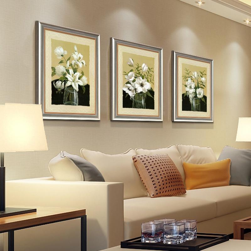 欧式墙画壁画挂画有框画客厅卧室简约
