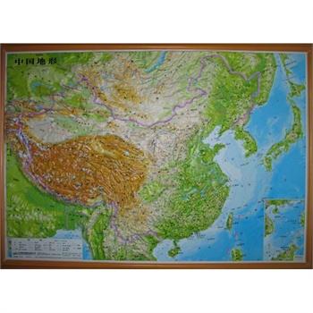 立体中国地形图拼图套装 中国地图