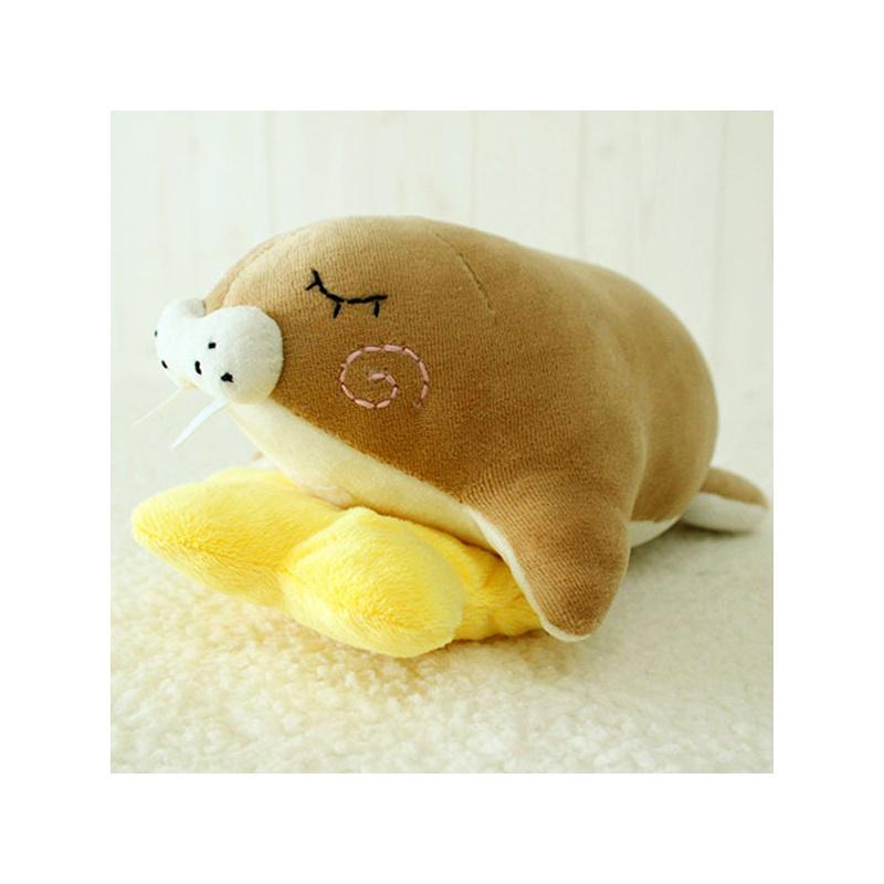 阿卡手工 布艺玩偶 海洋动物玩具玩偶 玩偶娃娃 香香睡小海象