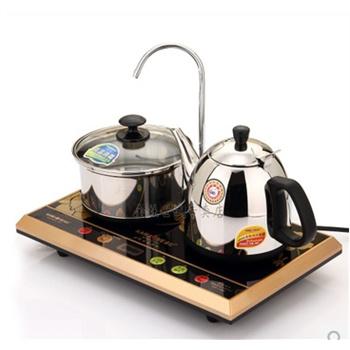 金灶t-300a双炉电热水壶电茶壶自动加水显示温度三合一