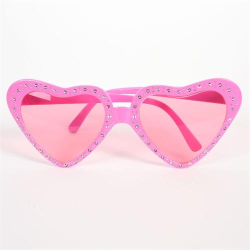 儿童眼镜 粉色心型眼镜