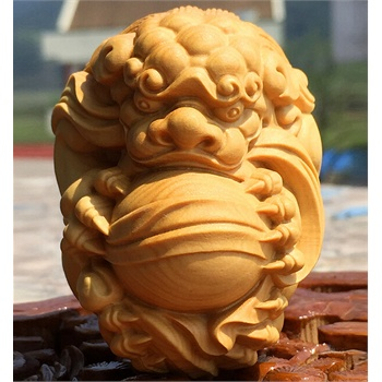 善品堂 黄杨木雕雕刻手把件貔貅文玩精品木质工艺品有求必应 大号6*5*