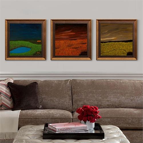 积累小家芒克油画作品 写意风景 墙画挂画壁画有框画客厅装饰画卧室