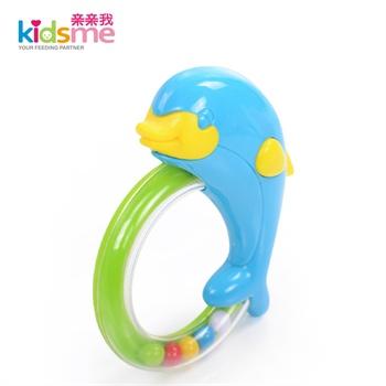 亲亲我 海豚手摇铃 宝宝益智玩具 婴幼儿摇铃玩具 视觉发育9454