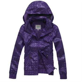 森马女装外套 短款外套 女式夹克潮 立领夹克 休闲外套薄_紫色调,m图片