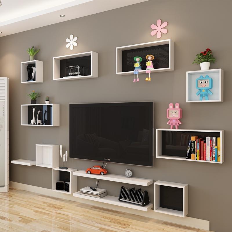 积累小家2014新款 魔方格创意搁板创意置物架搁架装饰架电视背景创意
