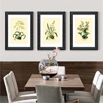 简约欧式客厅花卉植物装饰画