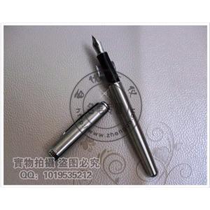 派克08卓尔钢杆白夹钢笔 派克钢笔高清图片