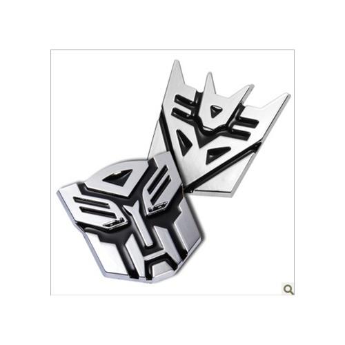 变形金刚 3d纯金属个性立体车贴 汽车人标志 博派