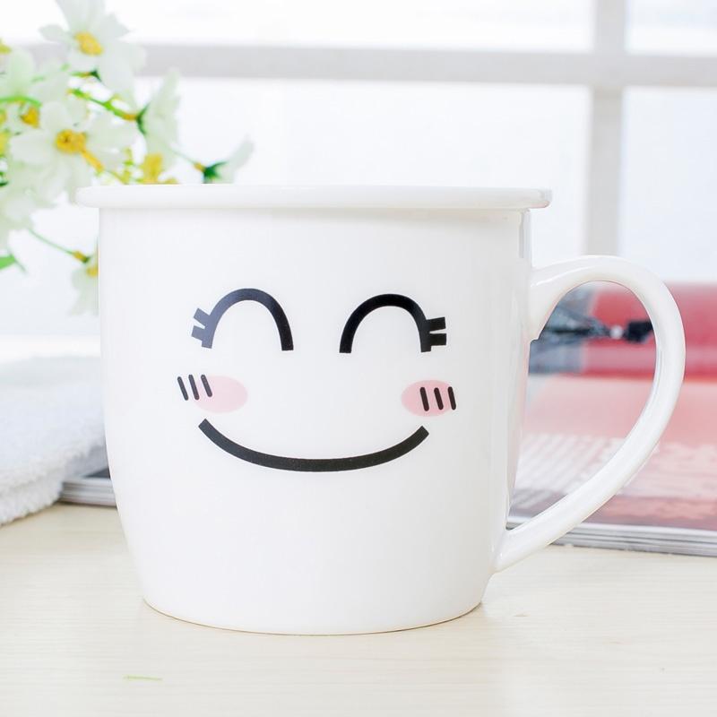 可爱时尚卡通陶瓷杯子表情杯马克杯具早餐牛奶杯奶茶