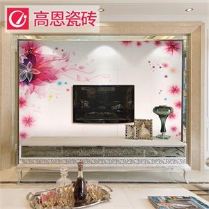 瓷砖电视背景墙主要中式风格
