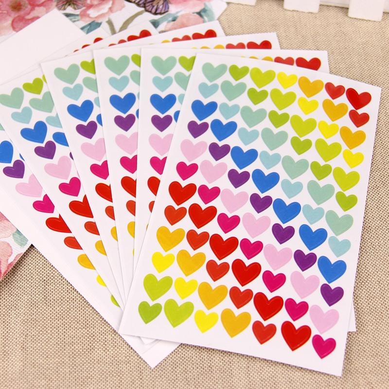 韩国可爱心形星星不干胶贴纸