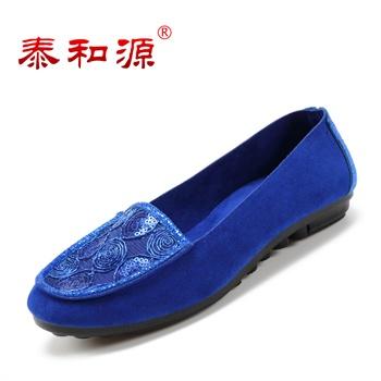 2016ugg蓝色花纹豆豆鞋