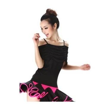 广场舞练功服特价新款拉丁舞上衣 吊带舞蹈服夏成人图片