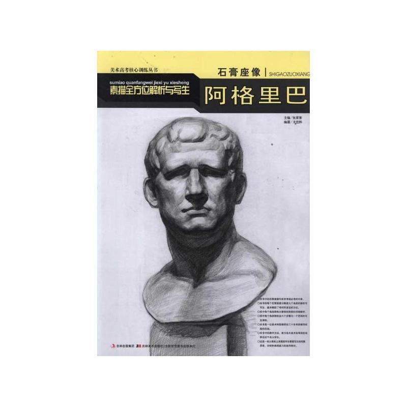 石膏座像素描全方位解析与写生-阿格里巴