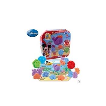 迪士尼3d打印泥海底世界超轻粘土橡皮泥无味不干 3d彩泥玩具套装