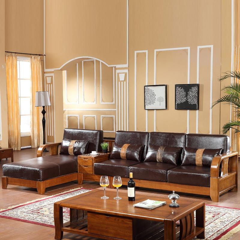 实木沙发组合客厅