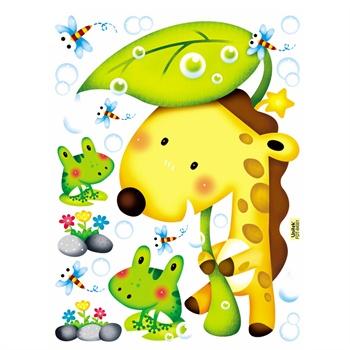 贝贝梦韩国进口 diy可移除卡通装饰墙贴夜光贴画可爱动物贴纸 fdt