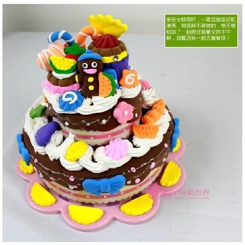 卡乐淘巧克力蛋糕超轻粘土diy彩泥模具套装3d橡皮泥c