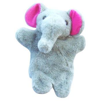 可爱小象手偶-灰色