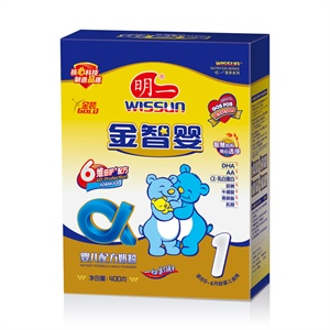 wissun 明一 金智婴1段婴儿配方奶粉 400g 盒装