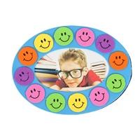 幼儿园区域材料儿童手工制作diy卡通花边相框   新天地幼儿园