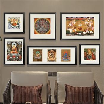 墙蛙 往事装饰画 大尺寸复古欧式简约照片墙相片墙创意组合相框墙_d款图片