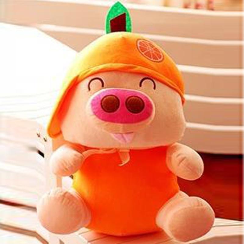 haobei 皓贝 新款水果娃娃可爱麦兜猪公仔 生肖猪毛绒抱枕 生日礼物