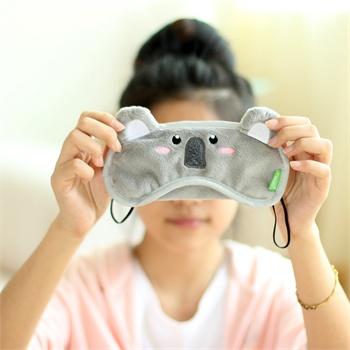 精耐特 考拉可爱睡眠眼罩 卡通眼罩 遮光眼罩 个性情侣午睡眼罩