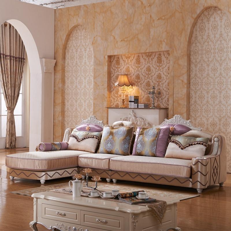 御品工匠 欧式实木框架沙发 豪华布艺沙发 自由组合沙发 606沙发