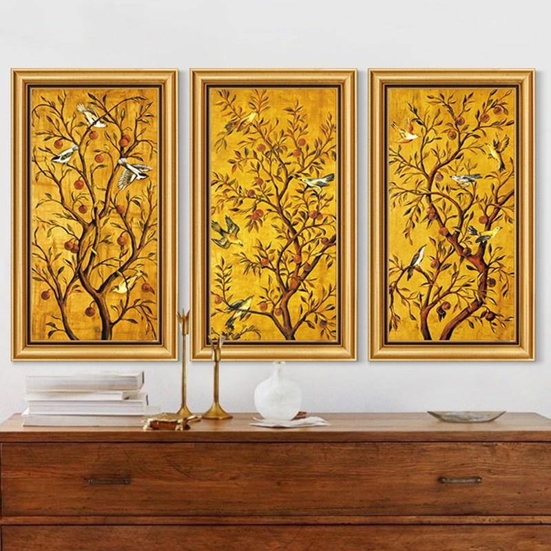 积累小家现代装饰画幸福树壁画墙画帆布画插画版画客厅床头简约无框画
