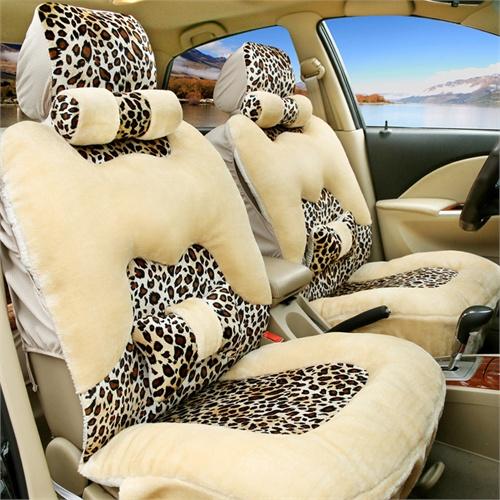 冬季毛绒汽车坐垫套 冬季汽车座垫