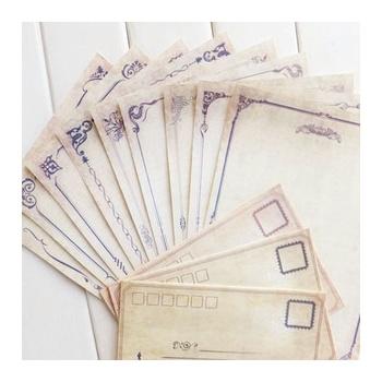 bmdm本木/回忆的风景 信纸信封课程表套装 韩国复古欧式创意文具图片