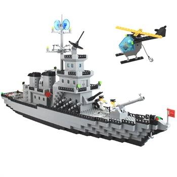 乐高式拼装积木玩具启蒙积木玩具启蒙112巡洋战舰