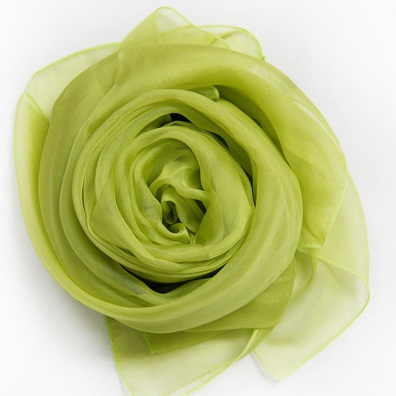 绿色头巾围巾复古花纹图片