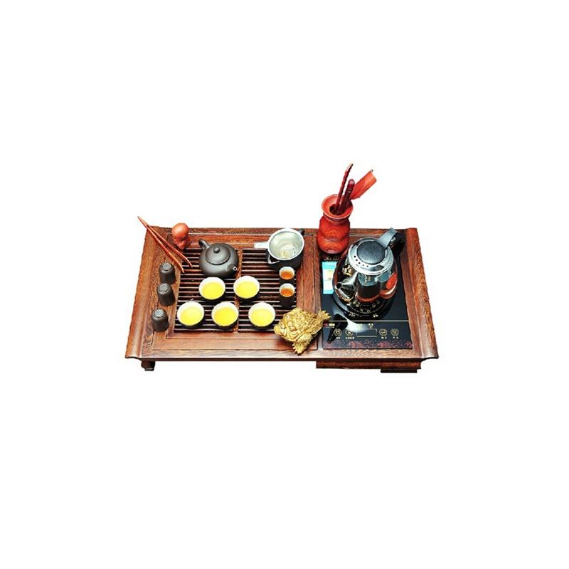 炜腾wt-1208鸡翅木电磁炉二合一茶盘 实木茶具套装功夫茶道