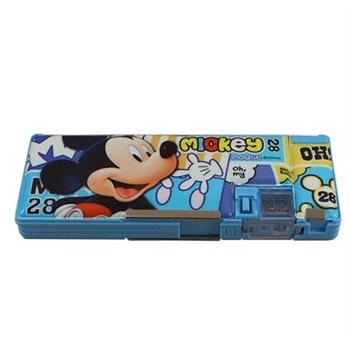 正品迪士尼米奇 双开学生铅笔盒 包邮 多功能文具盒 笔袋批发免邮