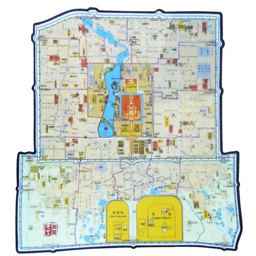 清北京城地图(鼠标垫)
