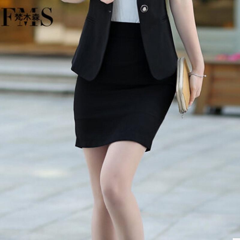 2014春夏款梵木森职业装女装百搭裙包臀半身裙女裙子正装_黑单裙,l