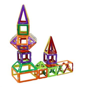 琛达magfx磁力建构片70片磁力片百变提拉积木益智玩具