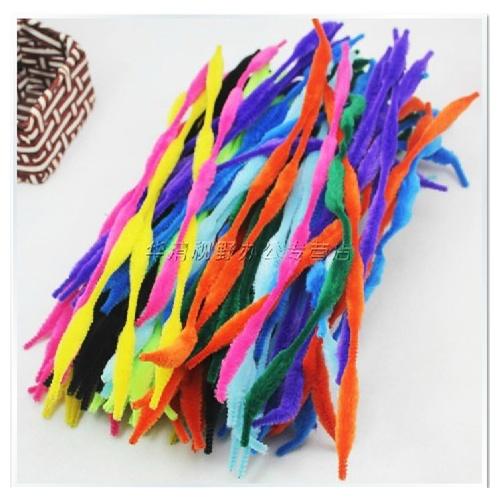 毛条毛根扭扭棒毛根条diy美术幼儿园儿童手工材料4花