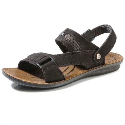 德国骆驼动感Camel Active夏季新款男鞋头层反绒牛皮英伦沙滩鞋透气凉鞋BL7303