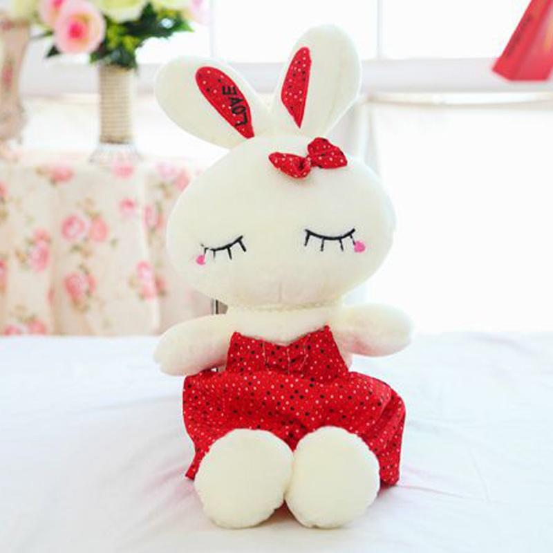 可爱芭蕾love兔公仔大号毛绒玩具兔兔布娃娃小白兔子
