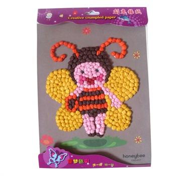 蜜蜂手工纸图片