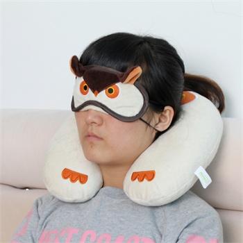 精耐特 猫头鹰情侣卡通睡觉遮光眼罩 搞怪个性可爱睡眠午睡眼罩j20066