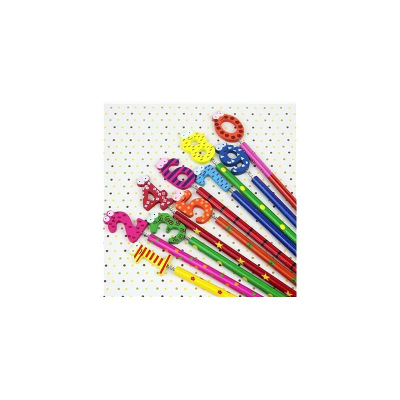韩国可爱木质卡通动物铅笔 创意学习用品 木制铅笔 彩绘铅笔_不限
