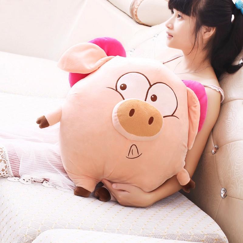 可爱胖胖天使猪布娃娃毛绒玩具猪猪公仔玩偶