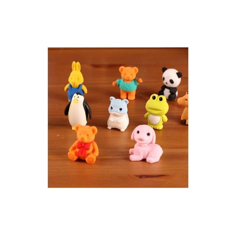 可爱卡通立体造型 小动物橡皮 橡皮擦