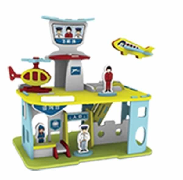 儿童益智手工拼插-超级飞机场