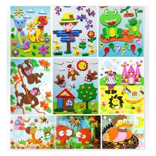 儿童玩具3d艺术立体画eva贴画diy手工制作